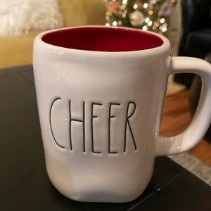 "NEW Rae Dunn ""cheer"" mug with red inside"